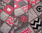 BabyLove Brand NEW Modern Patchwork Blanket - Crochet Pattern/Tutorial - rectangle throw - blanket is also available