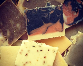 1 Pound (16 Ounces) Odds And Ends All Natural Cold Process Soaps - Soap Grab Bag