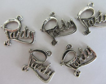 "10 pieces ""PARTY"" Charm Pendants"