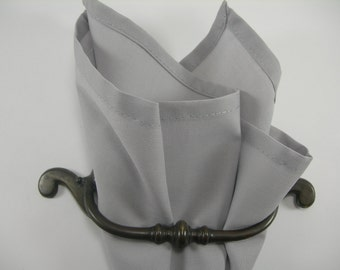 pocket square light gray
