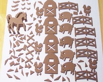 91 Farm Foam Die Cuts, Art Supplies, 91 Piece Farm Self-Adhesive Foam Die Cuts, Kids Crafts, Church And School Craft Supplies