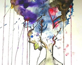 It Was All a Dream Watercolor REPRODUCTION PRINT