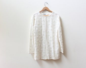 White Pearl & Lace Jacket