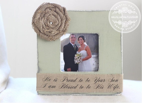 Wedding Gift for Parents of Groom Personalized Picture Frame Wedding ...