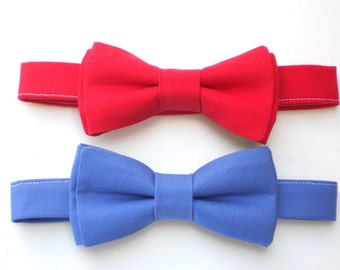 Red bow tie for boys, blue bow tie for kids, toddler bow tie, first birthday cake smash photo prop, newborn boy photo prop, new baby gift