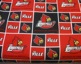 University of Louisville FABRIC Sold by the 1/4 Yard