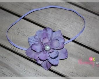 Hydrangea Flower Skinny Elastic Newborn/Toddler Headband