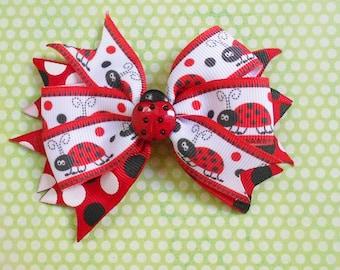 Cute Ladybug Bow