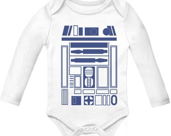 R2D2 Star wars Halloween Long Sleeve bodysuit