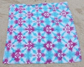Linen Dragon Fruit/Turquoise Tie-Dyed Baby Blanket