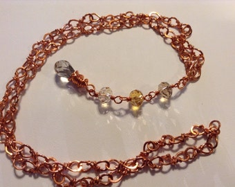 Copper & Gemstone Necklace