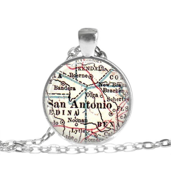 san antonio map pendant map jewelry map pendants