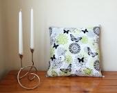 ON SALE: Handmade Beautiful Butterflies Cotton Cushion Pillow With Zip Closure