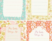 printable patterned book plates