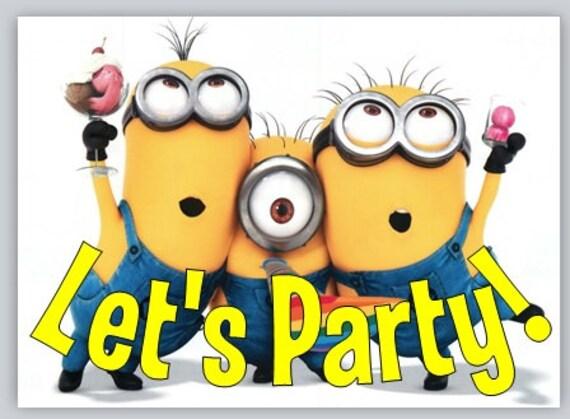 Party Invitations Minions Minion Birthday Party
