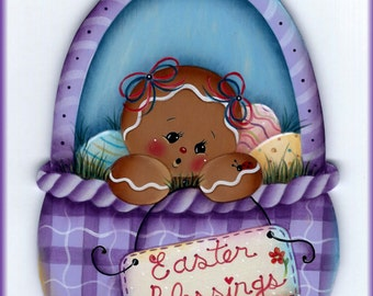Easter Blessings Gingerbread Painting E-Pattern