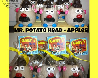 Toy Story Apples - Character Apples:  Mr. Potato Head,  Hamm the Piggy