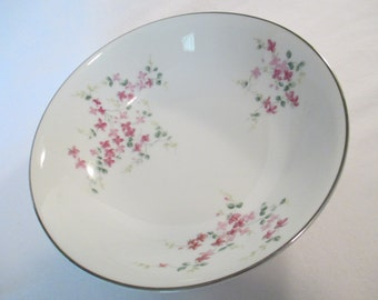 Vintage Hira Fine CHina Pink Vine Round Vegetable Bowl