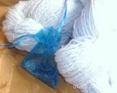 Samoyed/Dorset 50/50 Two ply Hand spun Yarn
