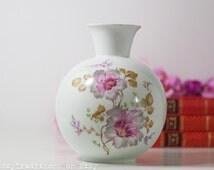 Rosenthal Vase, Germany White Porcelain Vase Bavaria, Vintage White Floral Decoration Vase Selb Plossberg, Fresh Home Decor