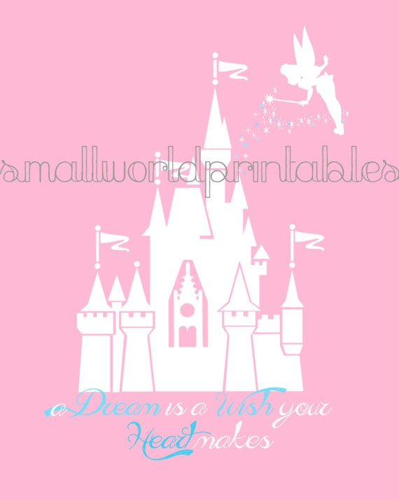 INSTANT DOWNLOAD Princess Disney Castle Silhouette Wall Art In 2 Sizes    8x10 11x14 Part 85