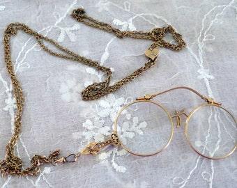Lorgnette Ornate Pince Nez Eyeglasses