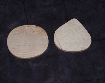 Unfinished wood shapes,ovals or teardrops,7/pkg,appx 1.5-2 inches,hardwood,ready to paint,decorate,game pieces,crafts