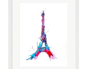 Eiffel Tower Watercolor Paris Print from Original Painting by Lana Moes - Parisian Cityscape - Paris - Fine Art Print