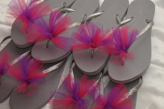 Wedding Gift Delivery Usa : Free USA Shipping! Custom WEDDING Flip Flops BRIDESMAID Bride Flip ...