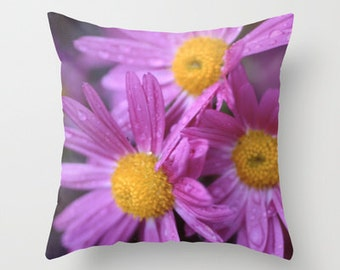 Flower Pillow Cover - Purple Flower Pillow Cover - Throw Pillow Cover - Includes Pillow Insert - Made to Order