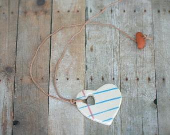 Big Hole Love Note Ceramic Necklace