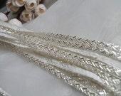 beaded trim, bridal sash, Bridal Belt, beaded jewelry Trim, Beading trim on sale