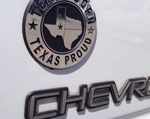Car badge Texas Born Texas Proud