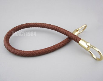 1 piece Brown Color Braided Synthetic Leather Bag Handle