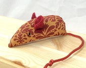 Mouse toy, Catnip cat toy, Catnip mouse, Elegant cat toy, burgundy tail and ears