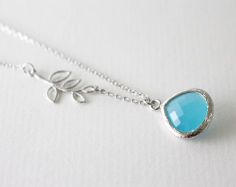 Blue drop necklace // Something blue