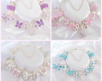 Ladies/girls personalised/age charm bracelet  bracelet
