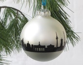 BERLIN Christmas Decoration, Berlin Christmas Bauble Glass Ball, Christmas Tree Ornament Berlin Skyline Decor, Berlin Souvenirs Gift