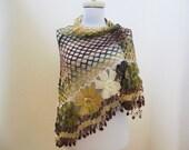 crochet shawl, handmade mohair shawl,, accessories