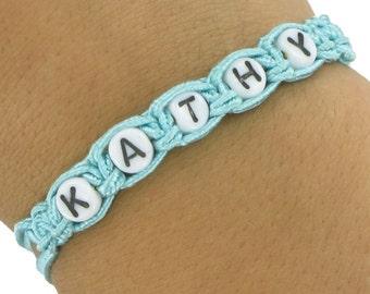 Kathy Macrame Name Bracelet Mint Vintage 70s Laguna