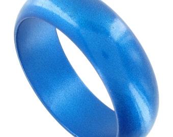 Blue Glitter Bangle Bracelets Vintage 1980s