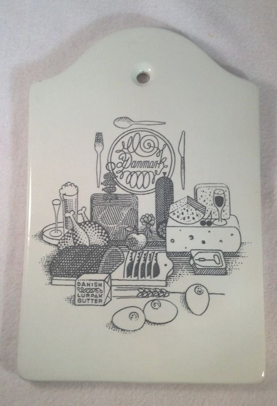 Vintage Cutting Board Danmark Lurpak Butter Advertising Porcelain Nymolle Danish
