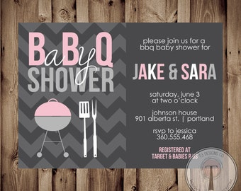 Marvelous Baby Shower BBQ, BBQ Baby Shower Invitation, Bbq Shower, Barbecue Baby  Shower,