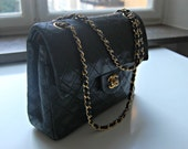 RESERVED FOR hdwildcat. Please do not buy!! Chanel Vintage 2.55 Black Leather Double Flap Bag