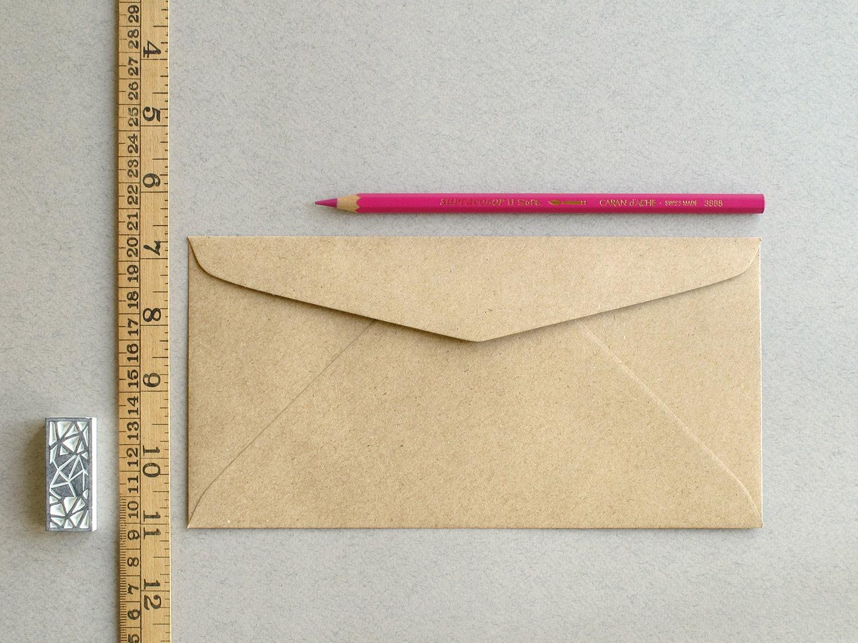 50 dl brown kraft envelopes triangle flap for international a4