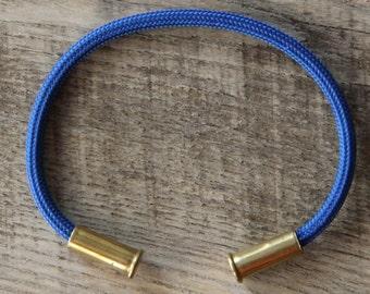 BRZN Recycled .22lr Bullet Casing Navy 550 Paracord Bracelet