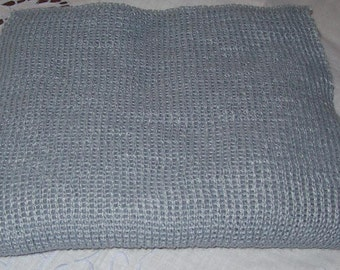 Knitted Grey Scarf Men, Women, Teens, Soft Acrylic Knitted Scarf, Extra Long