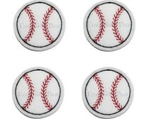 UNCUT RTS Baseball feltie sports patch applique embellishment of baseball felties hair bow centers (4)
