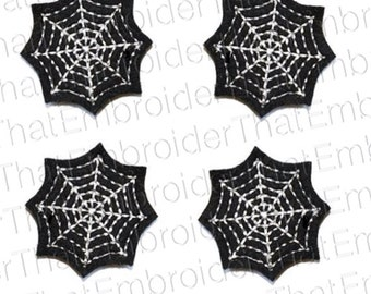 UNCUT  Spiderweb felt appliqué embellishment felties(4)