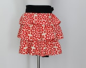 Red Ruffle Apron Perfect for Valentine's Day, Hostess Gift